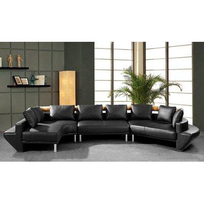 Divani Casa Jupiter Ultra Leather Sectional Sofa by VIG Furniture
