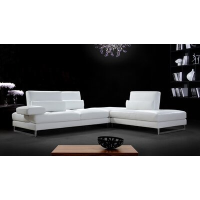 Divani Casa Tango Leather Sectional Sofa by VIG Furniture