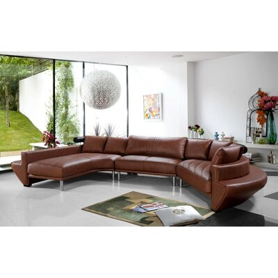 Divani Casa Jupiter Contemporary Leather Sectional Sofa by VIG Furniture