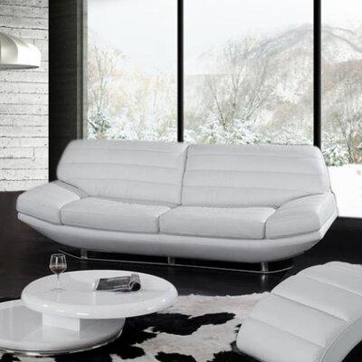 Divani Casa Boco Leather Convertible Sofa by VIG Furniture