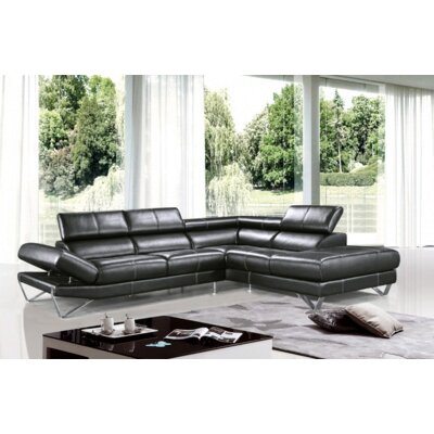 Divani Casa Dario Leather Sectional by VIG Furniture