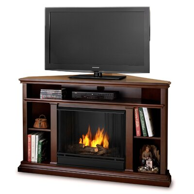 Real Flame Churchill Ventless Tv Stand With Gel Fuel