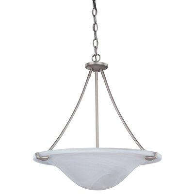 Nouveau 3 Light Bowl Pendant by Canarm