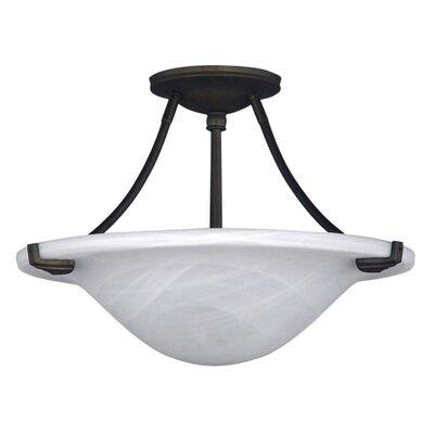 Nouveau 3 Light Semi-Flush Mount Product Photo