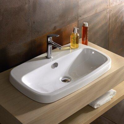 Ceramica Tecla by Nameeks Esprit Drop-in Ceramic Bathroom Sink with Overflow