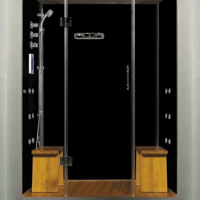 "Royal Care 59"" x 40"" x 84"" Pivot Door Steam Sauna Shower Product Photo"