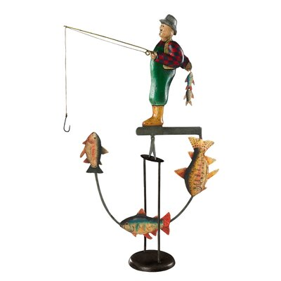 Authentic Models Fly Fisherman Boat Figurine