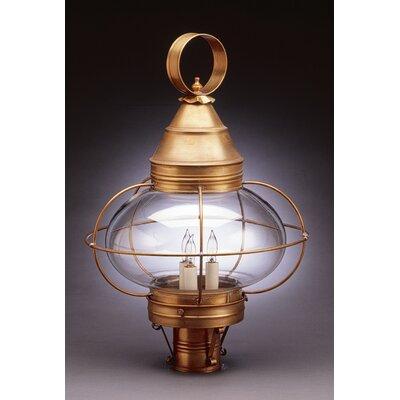 Northeast Lantern Onion 1 Light Caged Post Lantern