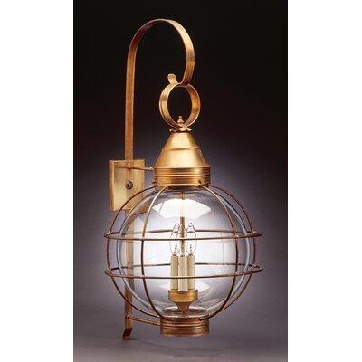 Northeast Lantern Onion 3 Light Wall Lantern