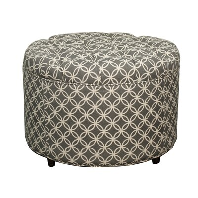 Allison Round Tufted Storage Ottoman by New Pacific Direct