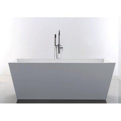 """Baron 67"""" x 32"""" Rectangle Acrylic Freestanding Bathtub Product Photo"""