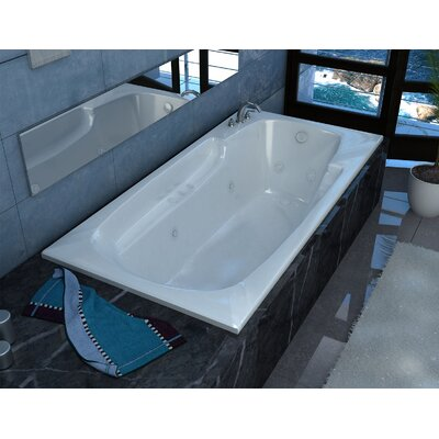 "Anguilla 60"" x 32"" Rectangular Air & Whirlpool Jetted Bathtub with Drain Product Photo"