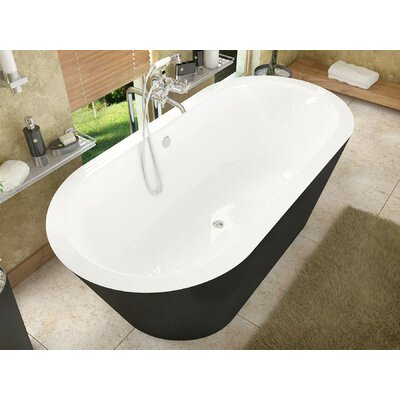 """Little Key 70"""" x 32"""" Freestanding One Piece Soaking Bathtub with Center Drain Product Photo"""