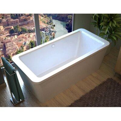 "Buena 67"" x 34"" Rectangular Freestanding Soaking Bathtub with Center Drain Product Photo"
