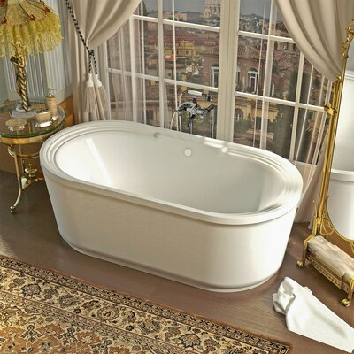 "Royal 67"" x 34"" Oval Freestanding Soaker Bathtub with Center Drain Product Photo"