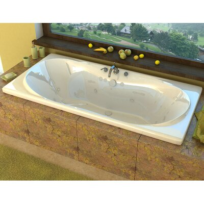 """Cayman 72"""" x 42"""" Rectangular Whirlpool Jetted Bathtub with Center Drain Product Photo"""