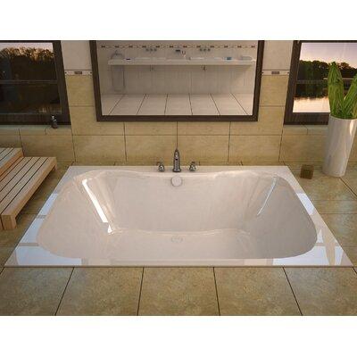 "Dominica 60"" x 40"" Rectangular Soaking Bathtub with Center Drain Product Photo"