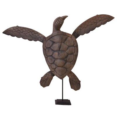 Fall Wood Sea Turtle Statue by BIDKhome