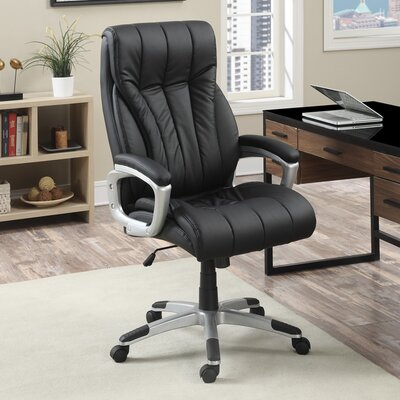 High-Back Task Chair with Arms by Poundex