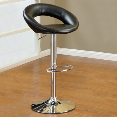 Adjustable Height Swivel Barstool by Poundex