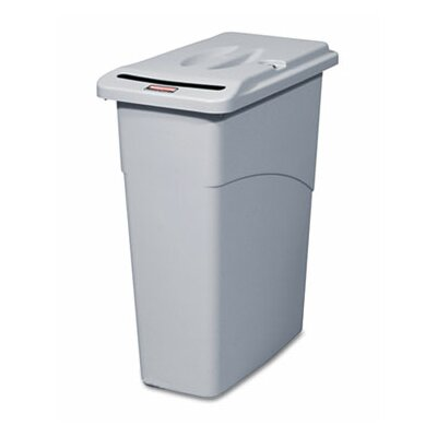 Rubbermaid Commercial Products Slim Jim 23-Gal Confidential Document Rectangle Receptacle with Lid