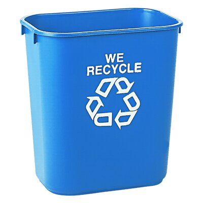 Rubbermaid Commercial Products 3.4-Gal Recycling Waste Basket