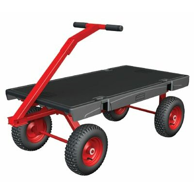 """Rubbermaid Commercial Products 31.75"""" x 24.25"""" x 54.88"""" 5th Wheel Wagon Platform Dolly"""