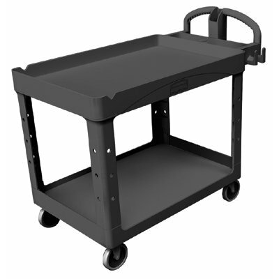 Rubbermaid Commercial Products Duty Lipped Shelves Utility Cart