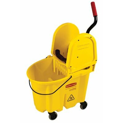 Rubbermaid Commercial Products WaveBrake® Down Press Combo's - mopping bucket and wringer combination pk-yellow