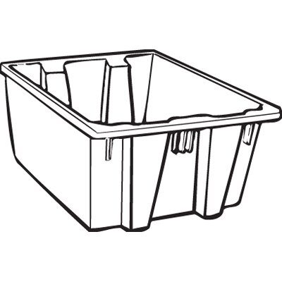 Rubbermaid Commercial Products 19.45-Gallon Palletote Box in Gray