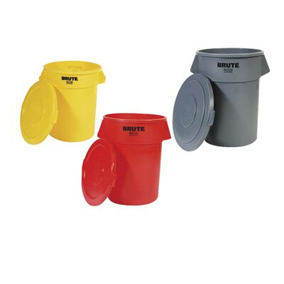 Rubbermaid Commercial Products Round Brute Flat Top Lid in Red