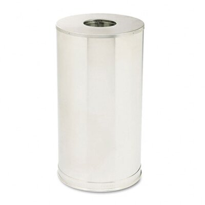 Rubbermaid Commercial Products 15-Gal European Metallic Drop-In Stainless Steel Top Receptacle