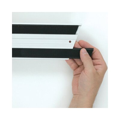 Rubbermaid Commercial Products Hook and Loop Replacement Strips in Black