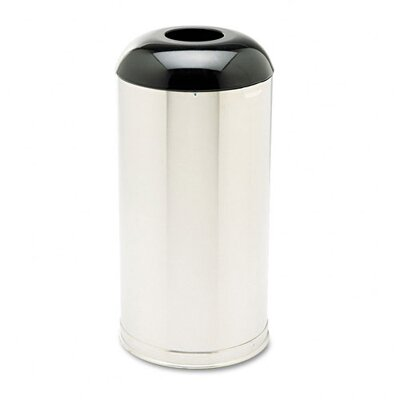 Rubbermaid Commercial Products 15-Gal European & Metallic Drop-In Dome Top Round Receptacle