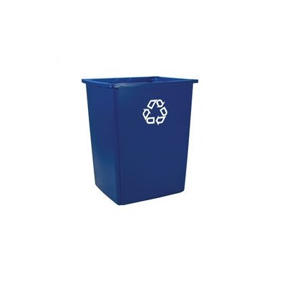 Rubbermaid Commercial Products 56-Gal Outdoor Glutton Curbside Recycling Bin