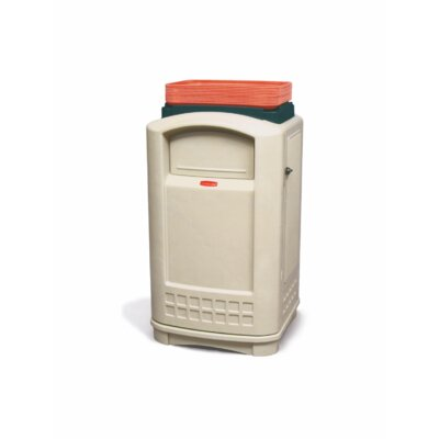 Rubbermaid Commercial Products Plaza® 50-Gal Container with Tray Top