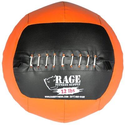 Muscle Driver USA 12 lb Rage Ball in Orange