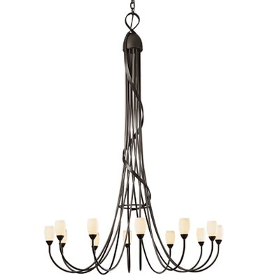 Flora 12 Light Scale Chandelier by Hubbardton Forge