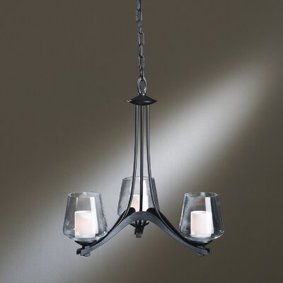 Ribbon 3 Light Chandelier by Hubbardton Forge
