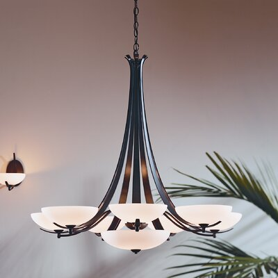 Aegis 9 Light Chandelier by Hubbardton Forge