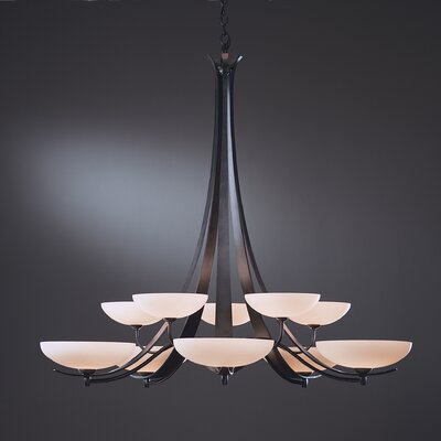 Aegis 10 Light Chandelier by Hubbardton Forge