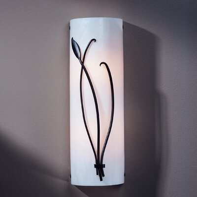 Hubbardton Forge 2 Light Wall Sconce with Forged Leaf