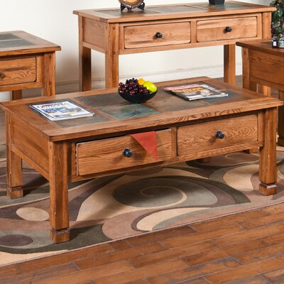 Sedona Coffee Table with Slate Top by Sunny Designs
