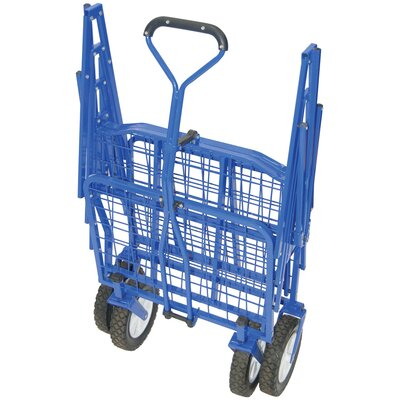 On The Edge Marketing Outdoor Folding Utility Cart in Blue