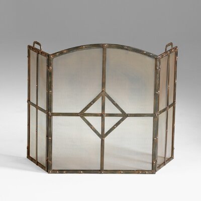 Lincoln 3 Panel Iron Fireplace Screen by Cyan Design