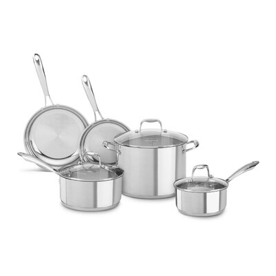 Polished Stainless Steel 5 Piece Cookware Set by KitchenAid