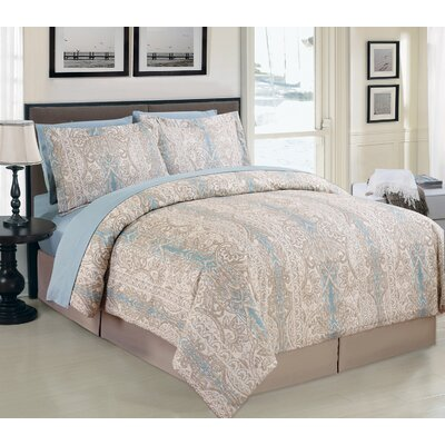 Alana 8 Piece Bed in Bag Set by Luxury Home