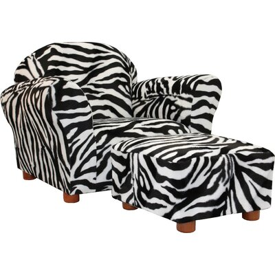 Roundy Kid's Novelty Chair and Ottoman Set by Fantasy Furniture