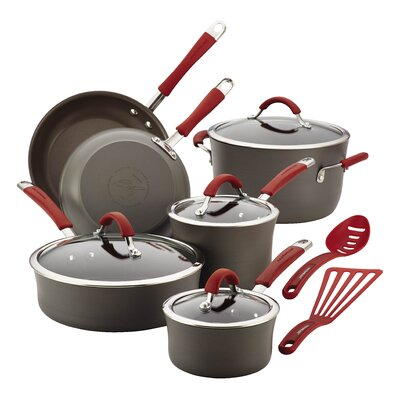 Cucina Hard-Anodized Nonstick 12 Piece Cookware Set by Rachael Ray