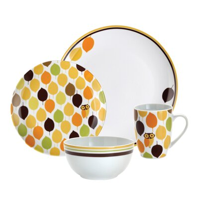 Rachael Ray Little Hoot Dinnerware Collection